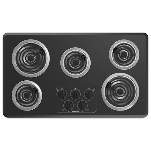 Amana Draft Down Cooktops ~ Amana inch electric cooktop with elements