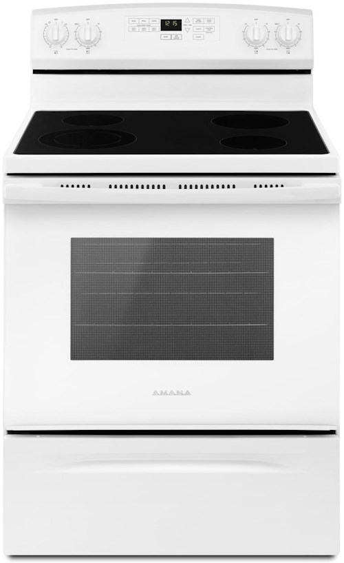 Amana Draft Down Cooktops ~ Amana inch electric range with self clean option