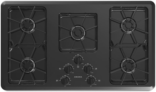 Amana Draft Down Cooktops ~ Amana inch gas cooktop with front controls