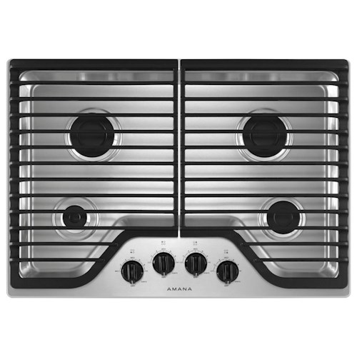 Amana Draft Down Cooktops ~ Amana inch gas cooktop with burners boulevard home