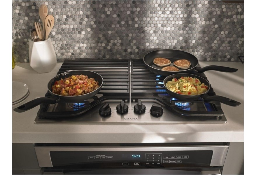 Amana 30 Inch Gas Cooktop With 4 Burners Wilcox Furniture Cooktop Gas