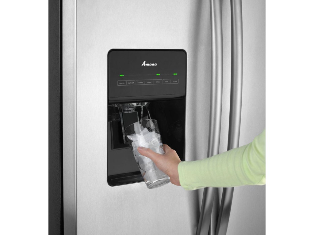 Amana Side-By-Side Refrigerators25.5 Cu. Ft. Side-by-Side Refrigerator