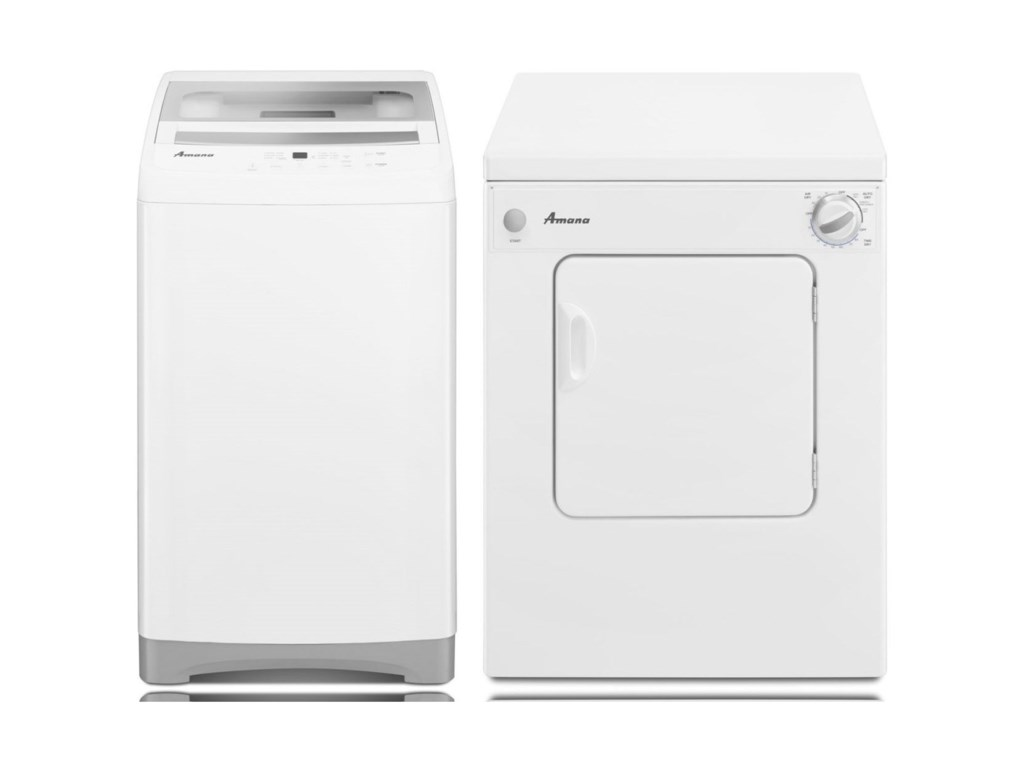 Washer and Dryer Sets Portable Washer and Dryer Set by Amana at Furniture  and ApplianceMart
