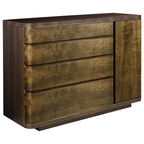 American Drew Ad Modern Organics Spencer Drawer Door Dresser with USB Charger
