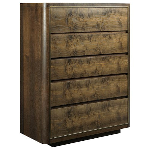 American Drew Ad Modern Organics Faulk Five Drawer Chest with Cedar Lined Drawer