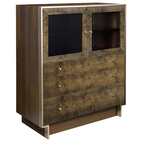 American Drew Ad Modern Organics Laurel Bunching Cabinet with Three Drawers