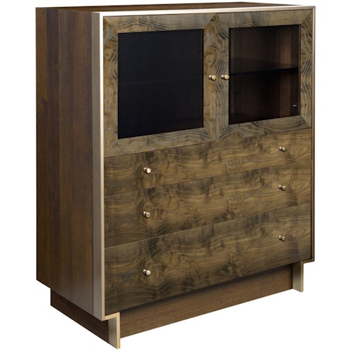 American Drew Ad Modern Organics Laurel Bunching Cabinet with Three Drawers