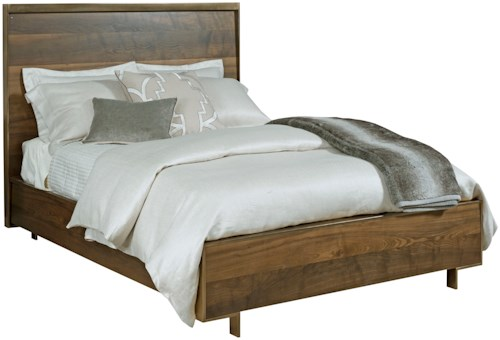 American Drew Ad Modern Organics Queen Luna Panel Bed with Tall Legs