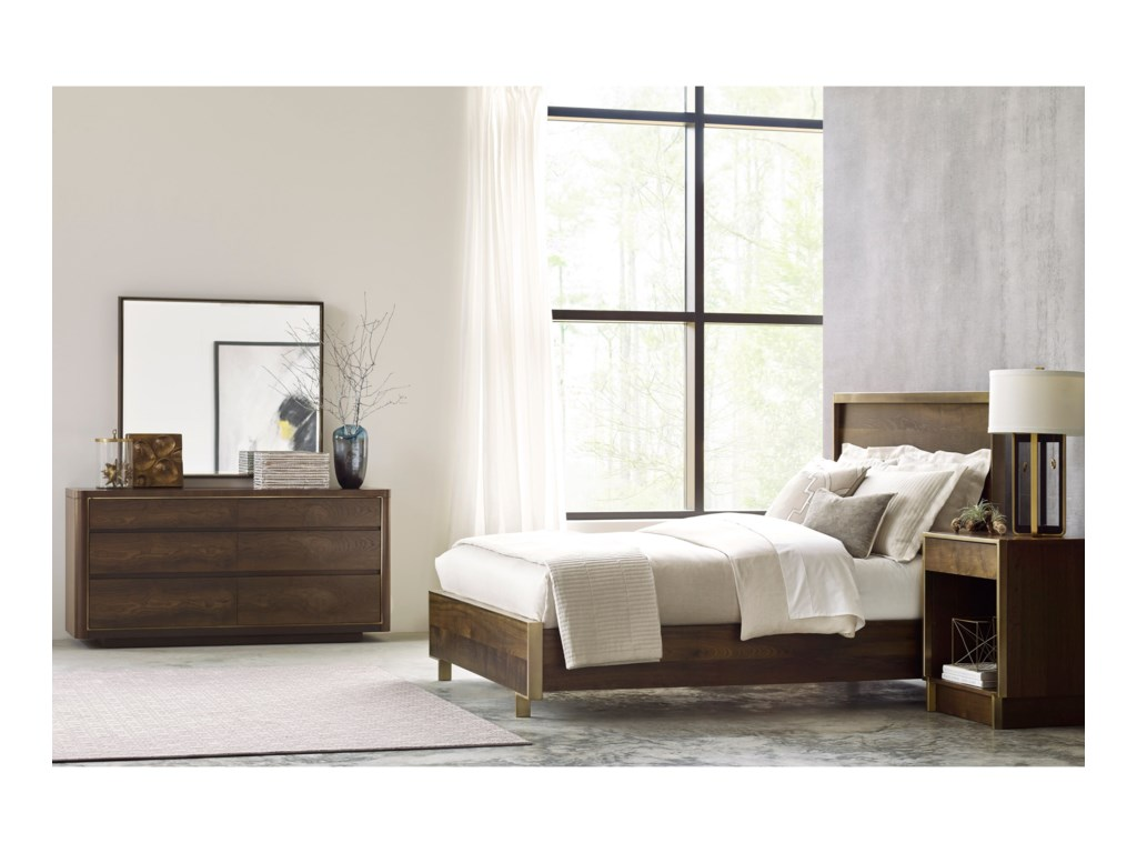 American Drew Ad Modern OrganicsKing Luna Panel bed