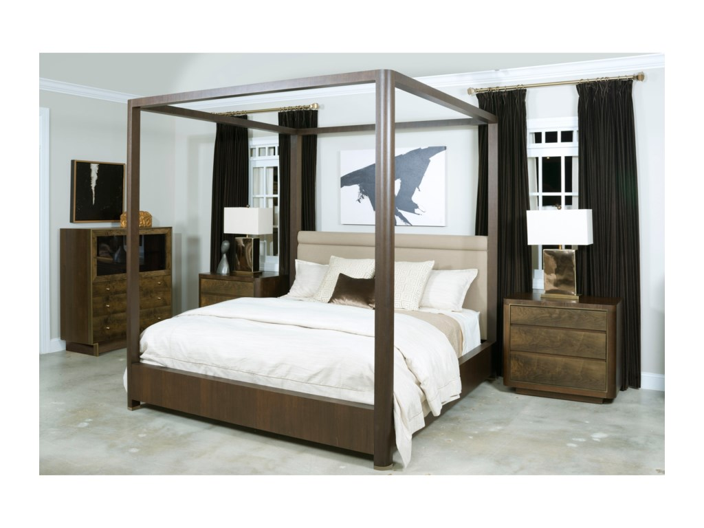 American Drew Ad Modern OrganicsKing Fremont Canopy Bed