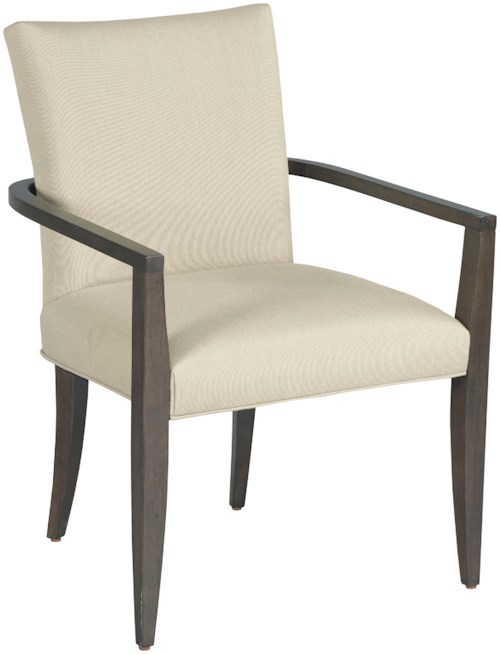 American Drew Ad Modern Organics Benton Dining Arm Chair with Upholstered Seat