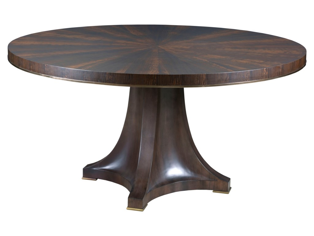 Modern round pedestal dining table - American Drew Ad Modern Organics Camby Round Pedestal Dining Table Hudson S Furniture Dining Tables