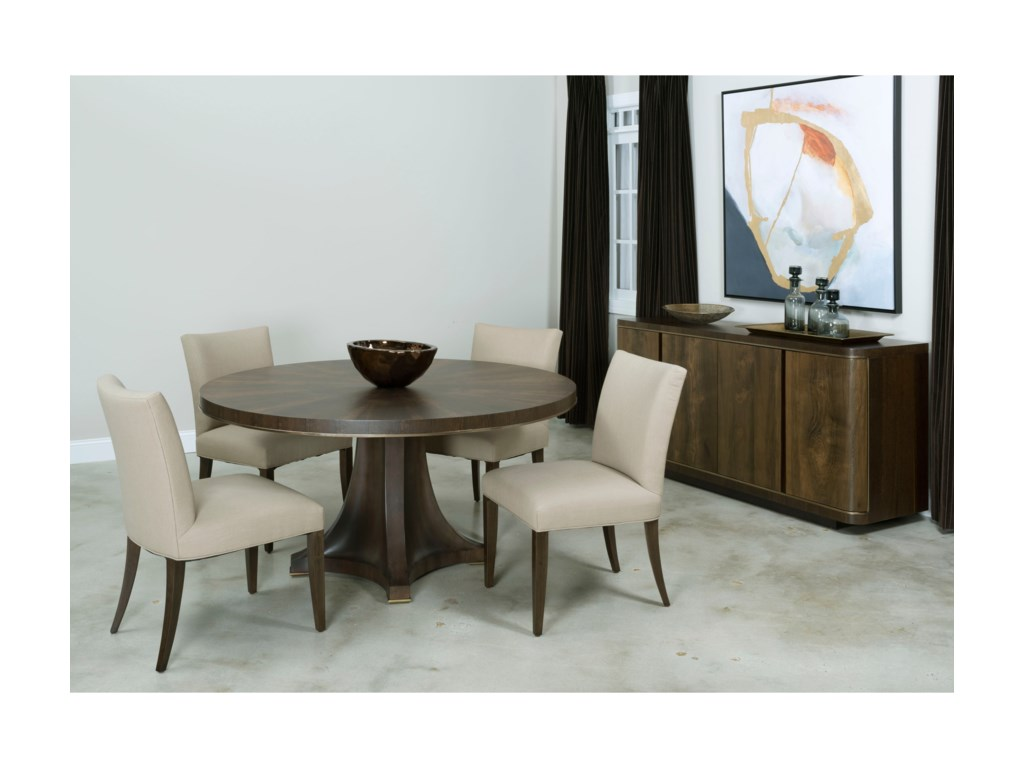 American Drew Ad Modern OrganicsCamby Round Pedestal Dining Table