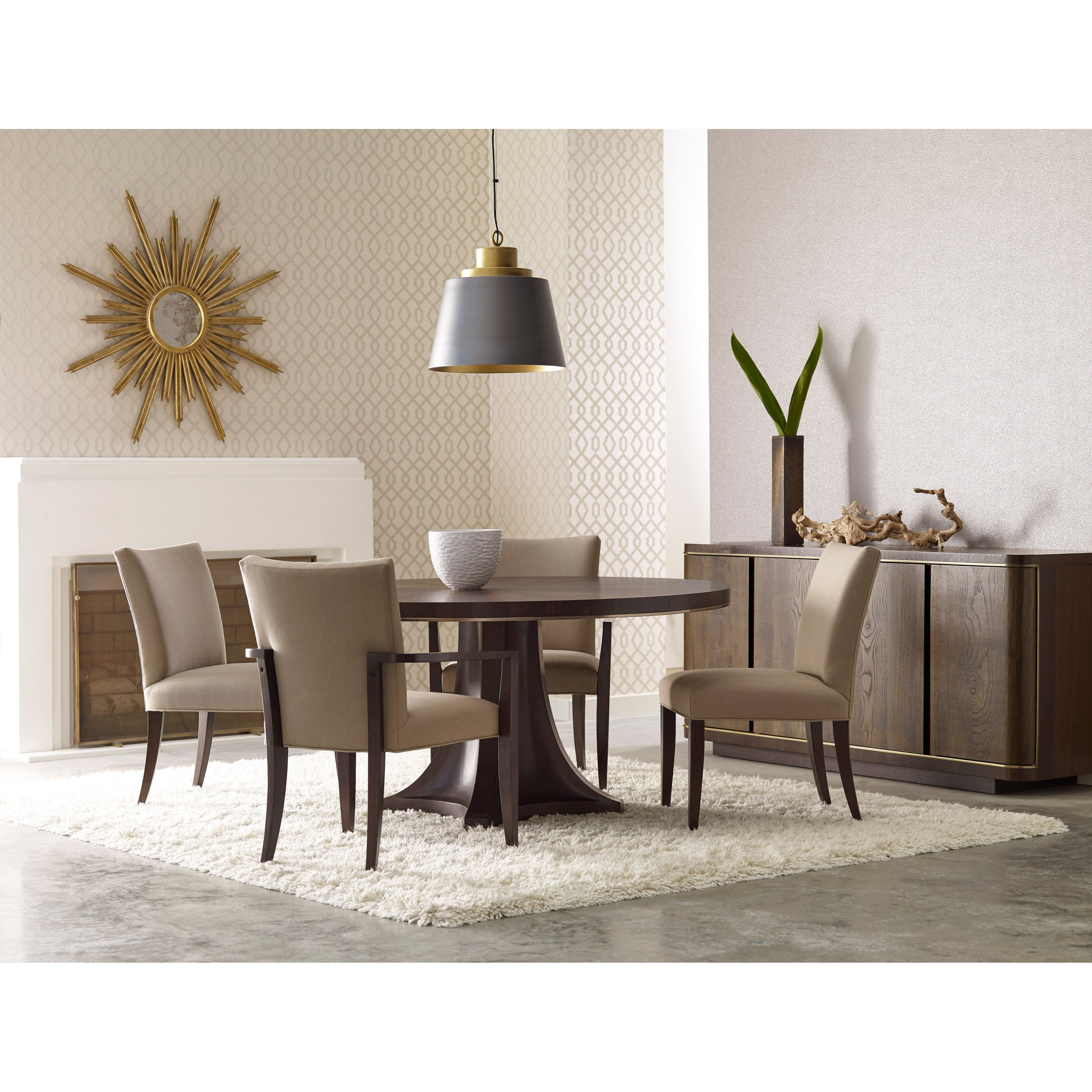 pedestal dining room table. American Drew Ad Modern Organics Camby Round Pedestal Dining Table Room +