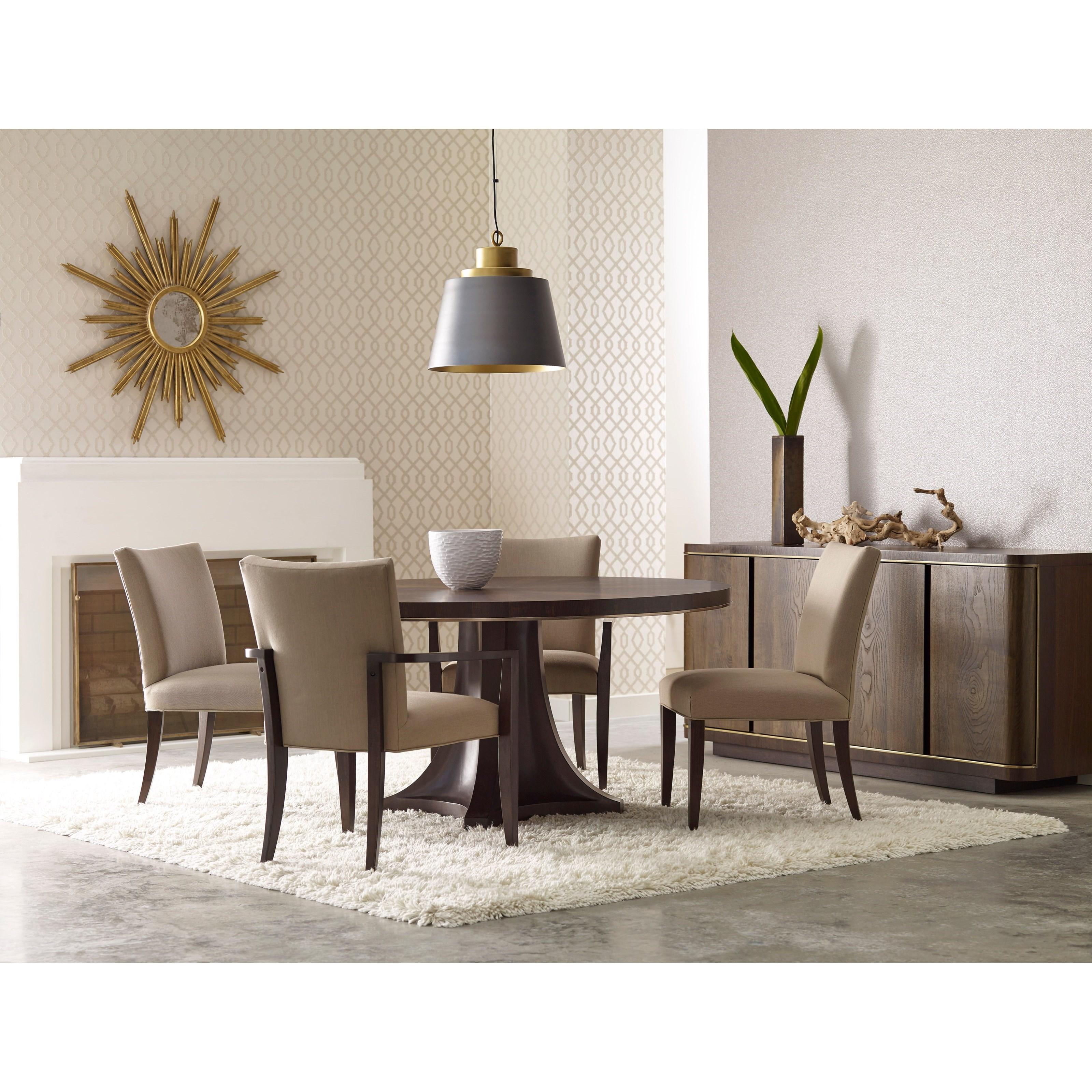 American Drew Ad Modern Organics Camby Round Pedestal Dining Table