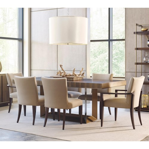 American Drew Ad Modern Organics 7 Piece Table & Chair Set with Leaves