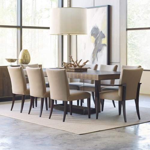American Drew Ad Modern Organics 9 Piece Table & Chair Set with Leaves