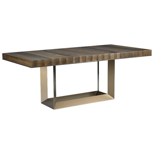 American Drew Ad Modern Organics Bandon Rectangular Dining Table with Two 20