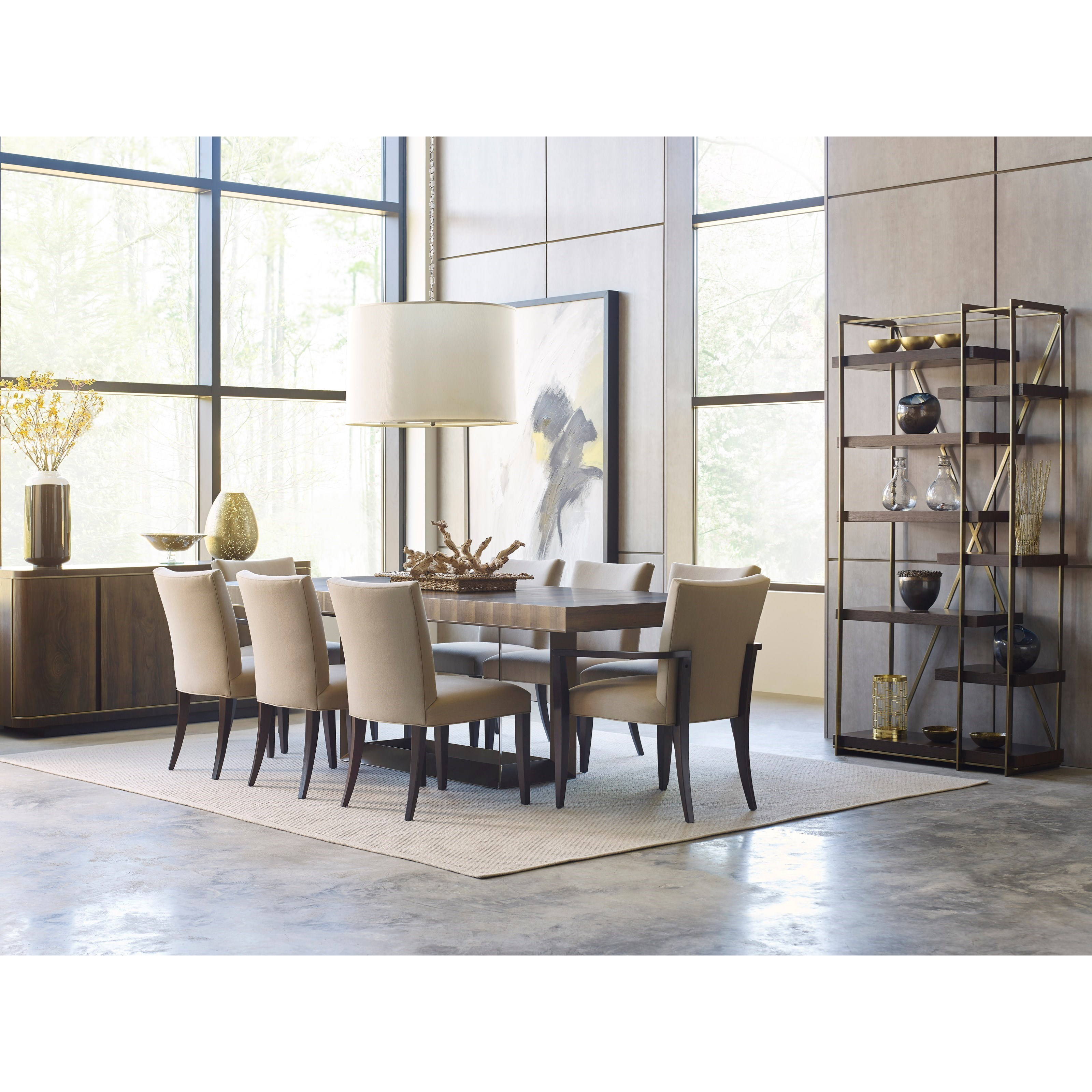 American Drew Ad Modern Organics Bandon Rectangular Dining Table With Two  20 Part 74