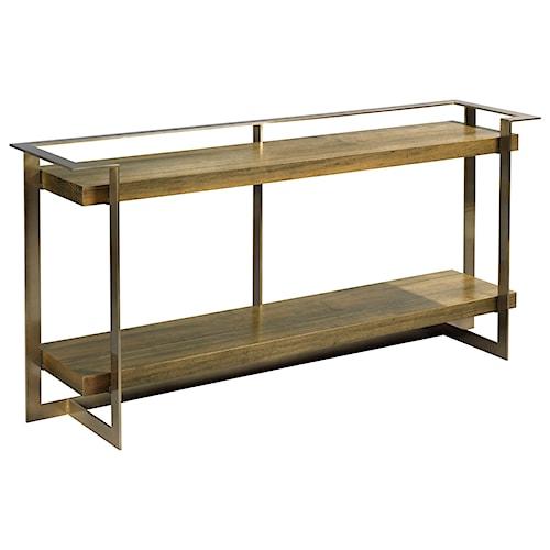 American Drew Ad Modern Organics Timothy Console Table with Shelf