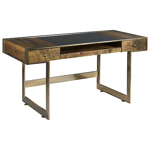 American Drew Ad Modern Organics Risden Desk with Bronze Glass Top Insert
