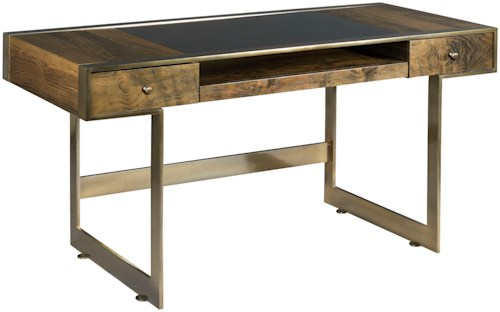 American Drew Ad Modern Organics Risden Desk with Bronze Glass Top Insert