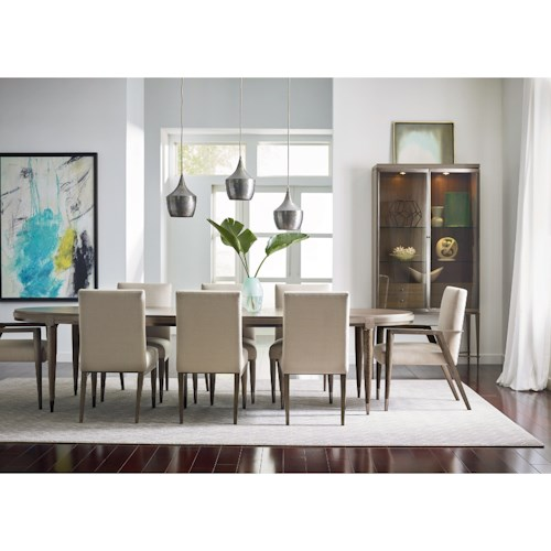 American Drew Ad Modern Classics Mid-Century Modern Formal Dining Room Group