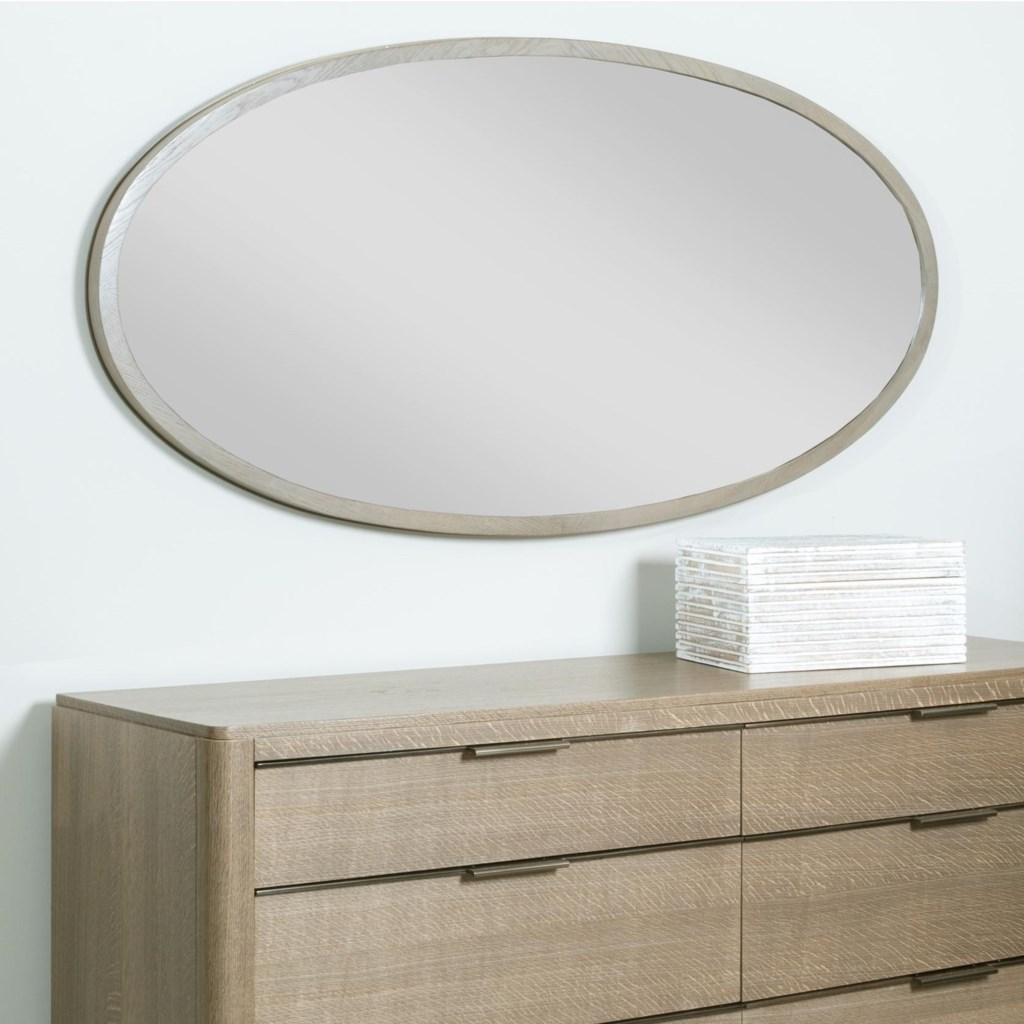 Ad Modern Classics Ramsey Oval Mirror With Wood Frame By American Drew At Stoney Creek Furniture