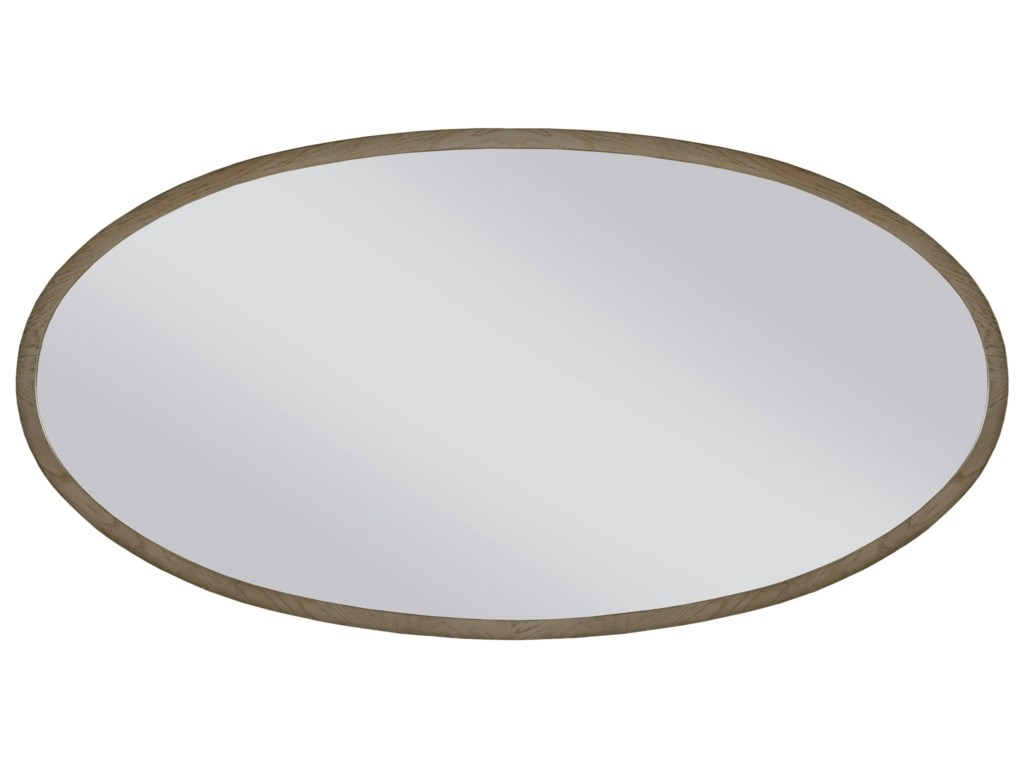 American Drew Ad Modern Classics Ramsey Oval Mirror With Wood Frame Wayside Furniture Wall Mirrors
