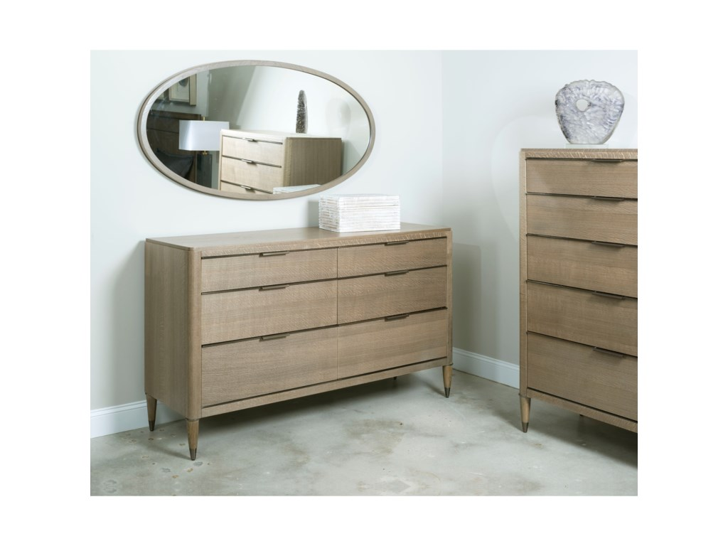 American Drew Ad Modern ClassicsHamden Six Drawer Dresser