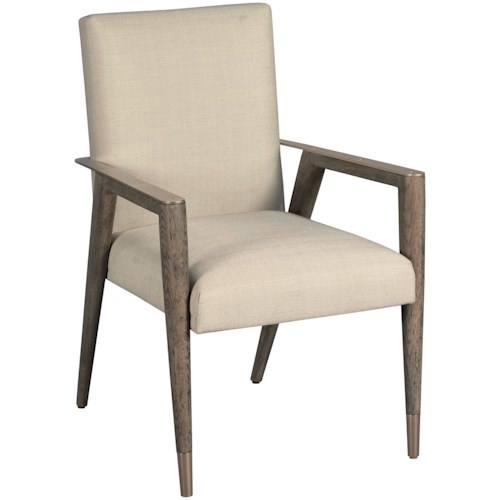 American Drew Ad Modern Classics Contemporary Upholstered Shelby Dining Arm Chair