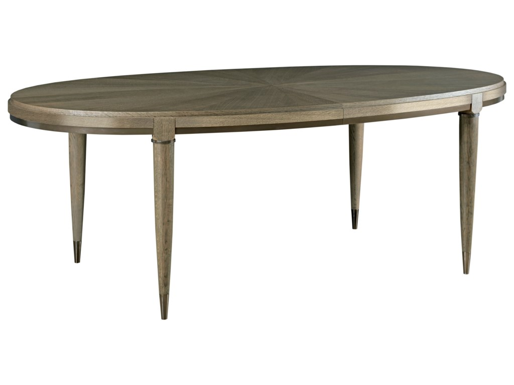 American Drew Ad Modern Classics Contemporary Oval Lloyd - Modern oval dining table with leaf
