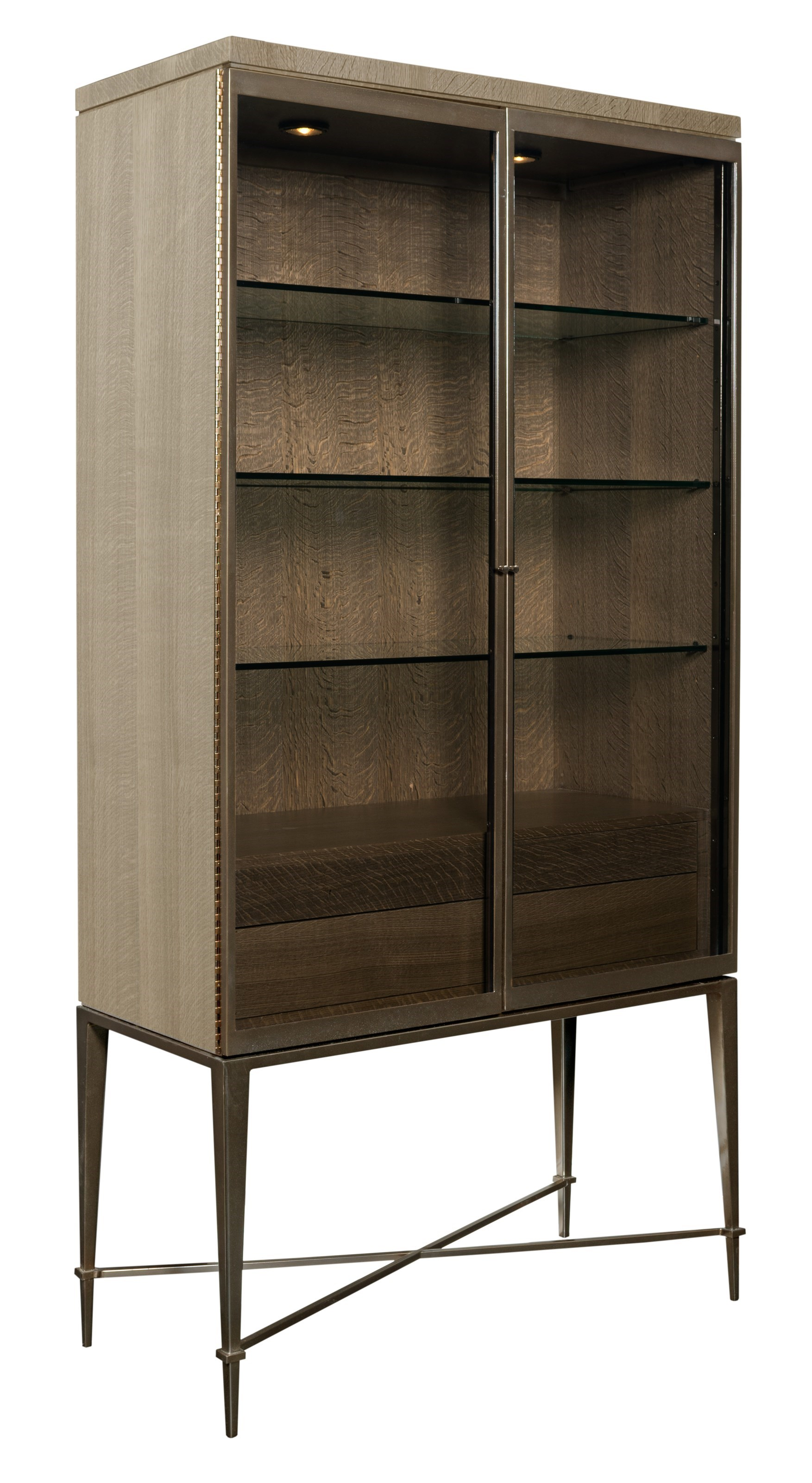American Drew Ad Modern Classics Knox Curio With Touch Lighting   Hudsonu0027s  Furniture   Curio Cabinets