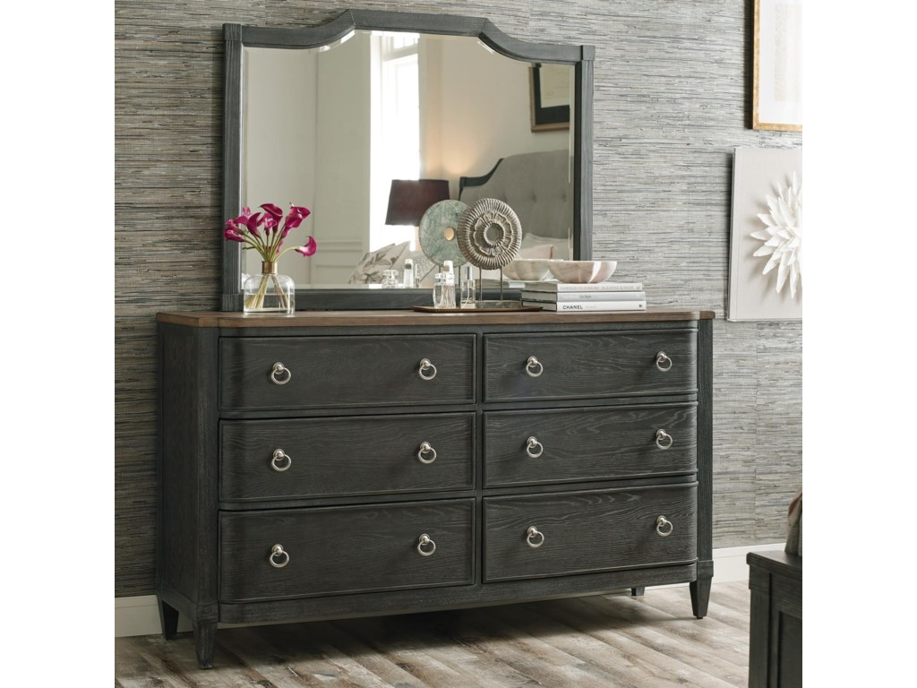 American Drew ArdennesDresser and Mirror Set