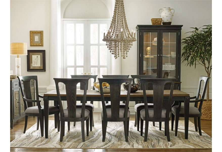 American Drew Ardennes Dining Table And Chair Set For 8 | Lindy