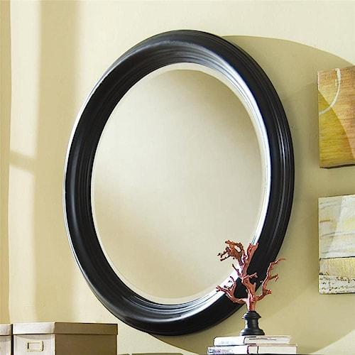 American Drew Camden - Dark Round Beveled Mirror