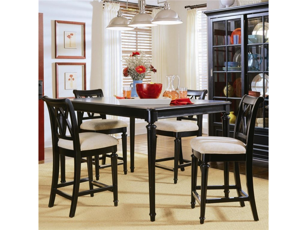 Counter Height Stools Shown with Rectangle Table