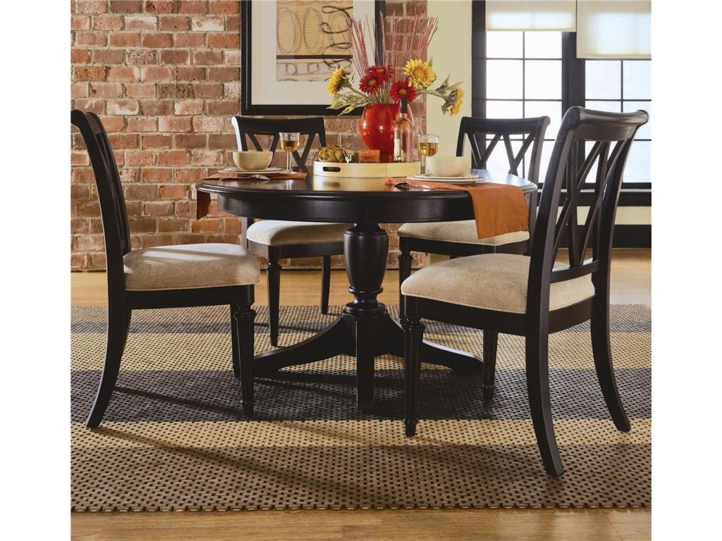 Round Table Shown with Chairs