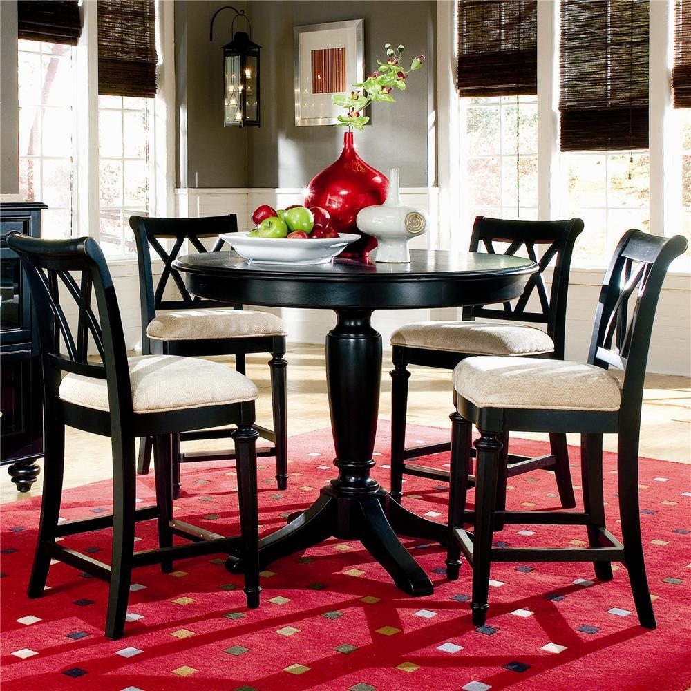 Attirant American Drew Camden   Dark Counter Height Table With Splat Back Stools