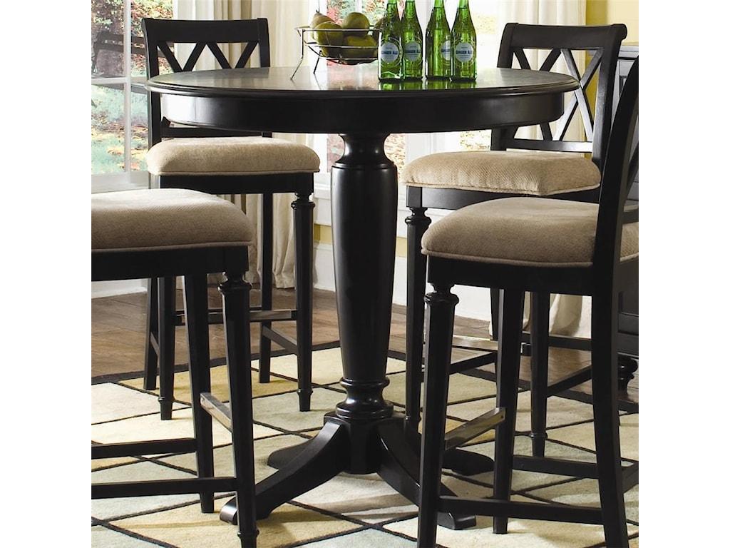American Drew Camden - DarkBar Height Pedestal Table