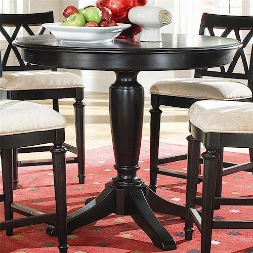 American Drew Camden - Dark Round Counter Height Pub Table 42
