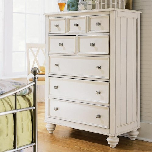American Drew Camden - Light 5 Drawer Chest with Nickel Hardware