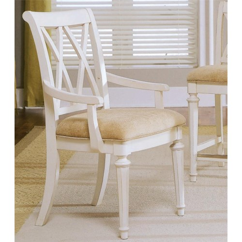 American Drew Camden - Light Arm Chair with Cut-Out Back