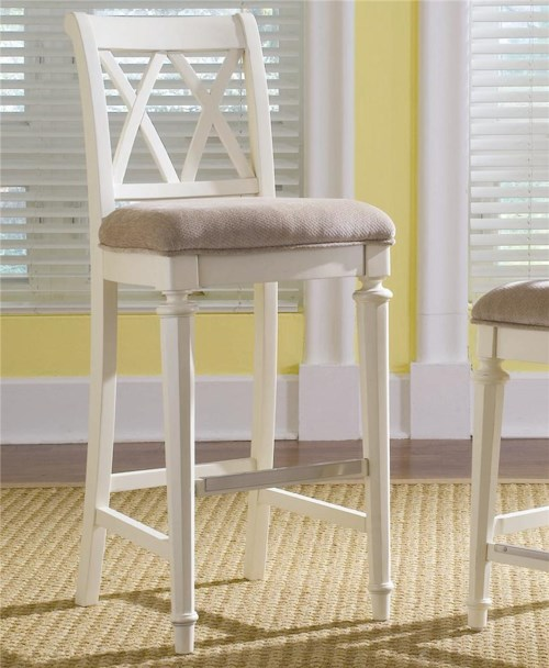 American Drew Camden - Light Bar Height Bar Stool with Cut-Out Back