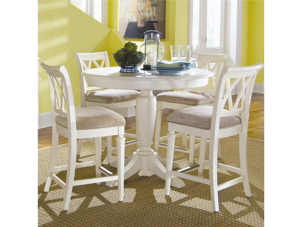 Shown in Room Setting with Counter Height Stools