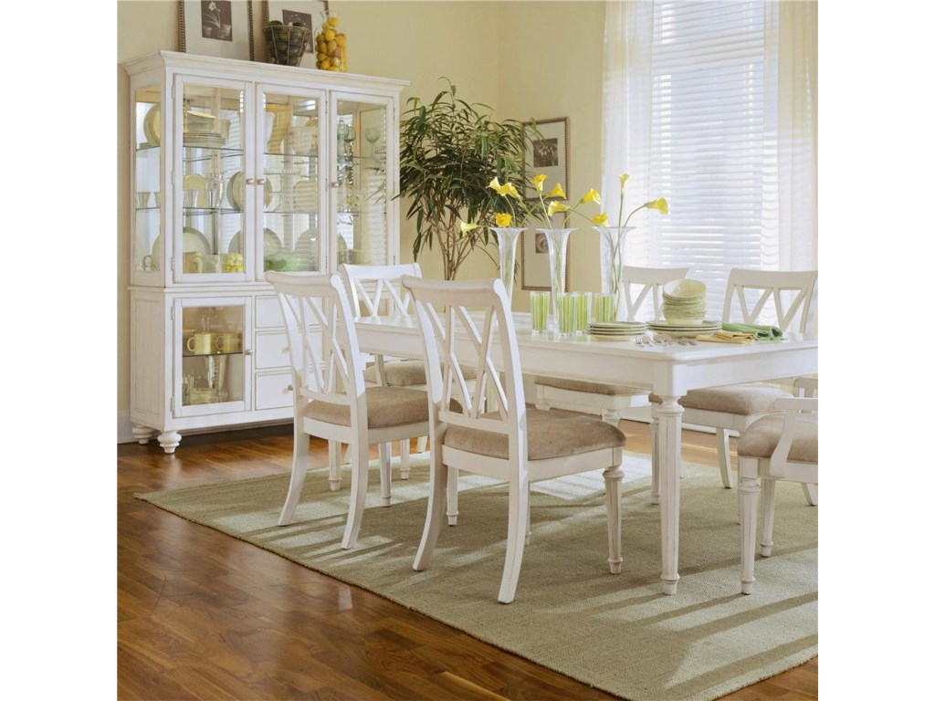 China Hutch Shown with Dining Table