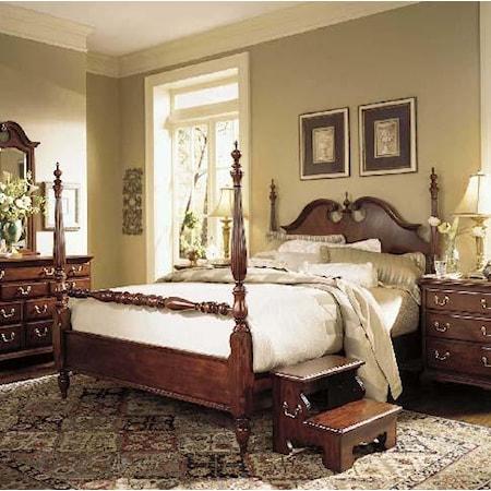 Queen Low Poster Bed
