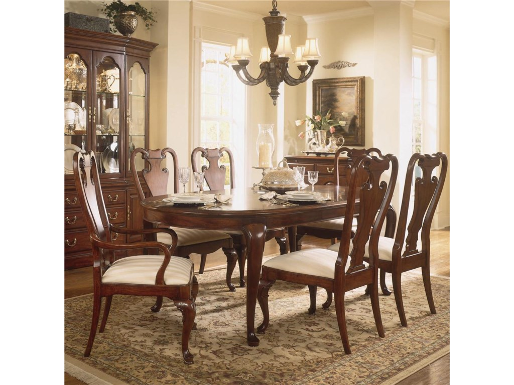Shown with Oval Leg Table and Splat Back Arm Chair