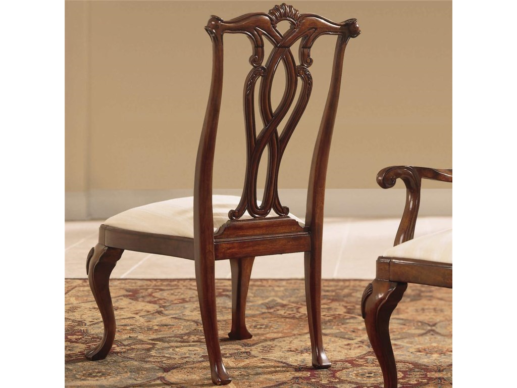 American Drew Cherry Grove 45thPierced Back Side Chair
