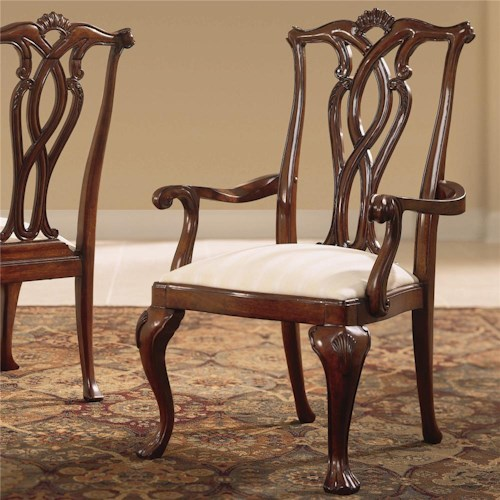 American Drew Cherry Grove 45th Arm Chair with Pierced Back